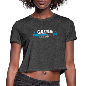 Gains please wait... Women's Cropped T-Shirt - deep heather