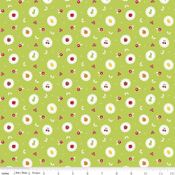Sweet Orchard Scallop Green ~ Remnant 16