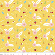 "Sweet Orchard Fruit Yellow ~ Remnant 9""x44"""