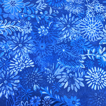 Large Florals and Designs Tonal ~ Blue on Blue