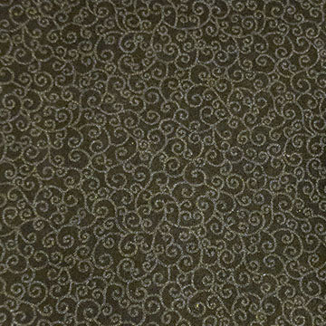 Swirls Pattern ~ Grey on Black