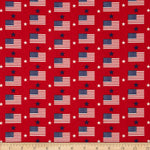 Made in the USA: Flags & Stars Red, White, Blue (Half Yard)