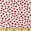 Made in the USA: Stars Red/White (Half Yard)