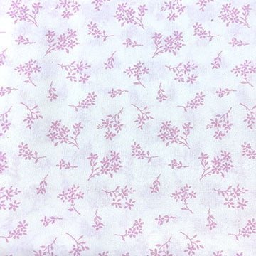 White Background with Pink Flower Bundles ~ Pink on White