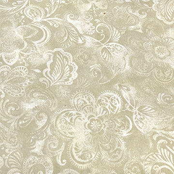 Large Florals and Designs Tonal ~ Cream on Cream