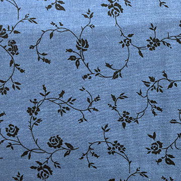 Tonal Swirly Vine Flowers ~ Navy Blue
