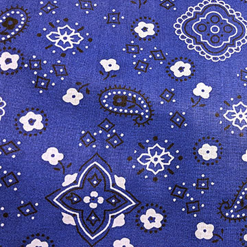 Bandana Prints ~ White on Royal Blue