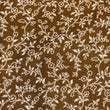 Viney Florals ~ White on Brown