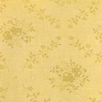 Solid Background with Flower Clusters ~ Yellow Brown