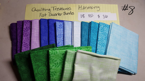 Harmony ~ Bright Cool Set #2 Fat Quarter Set