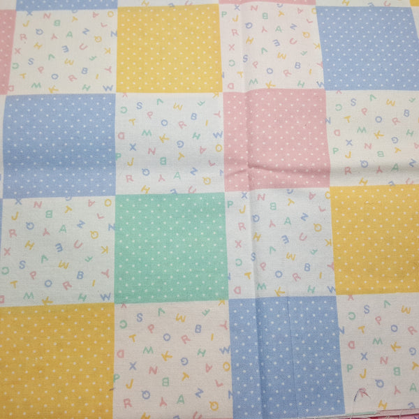 "Baby blocks in 2 inch pattern ~ Remnant 18""x22"""