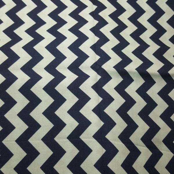 "Chevron 1/2"" Dark Blue & Light Blue ~ Remnant 18""x22"""