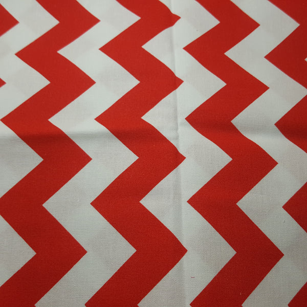 "Chevron 1"" Red & White ~ Remnant 18""x22"""