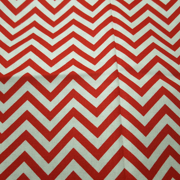"Chevron 1/4"" Red & White ~ Remnant 18""x22"""