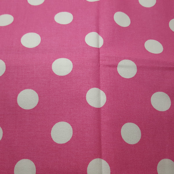 "Dots 3/4"" Pink ~ Remnant 18""x22"""