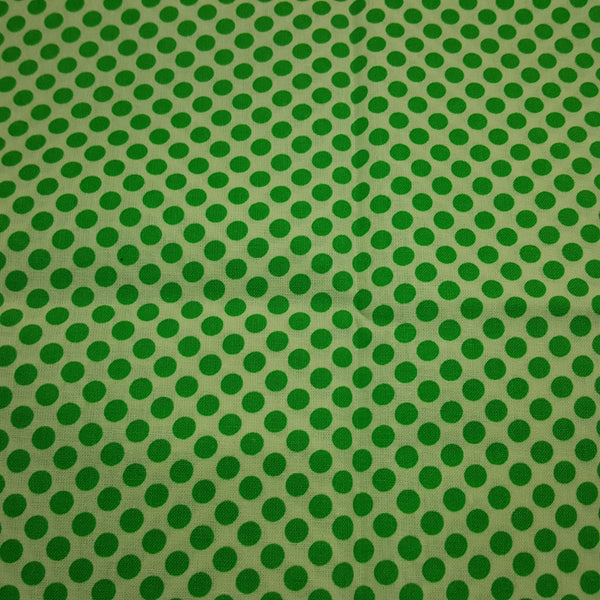 "Dots 1/4"" Green & White ~ Remnant 18""x22"""