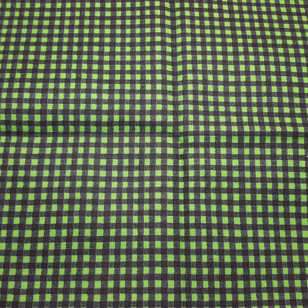 "Plaid 1/8"" squares in Green and Black ~ Remnant 18""x22"""