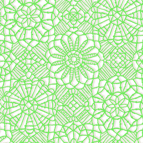 Amazing Lace ~ White/Spring Green
