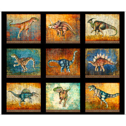 Lost World Large Dinosaur Patches Black
