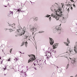 Juliette Spaced Floral Vine Lavender