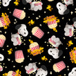 Popcorn and Peanuts Snoopy and Woodstock Popcorn Toss Black