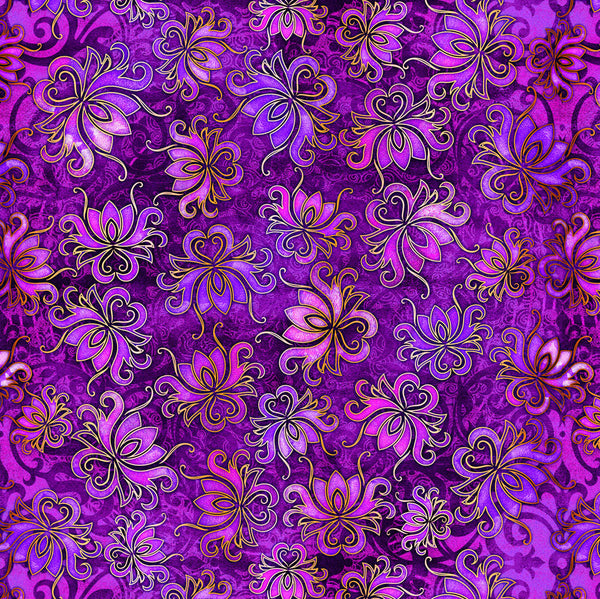 Pandora Floral Toss by Dan Morris for QT Fabrics