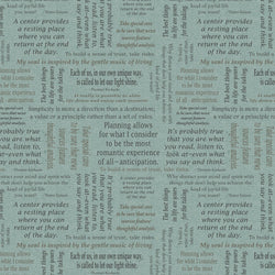 Inspiration for Living ~ Blue Words (Half Yard)