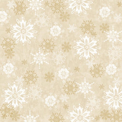 Winter Joy Snowflakes Tossed in Ivory