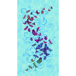Aflutter ~ Butterfly Panel on Blue