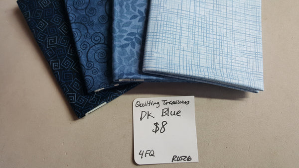 Harmony ~ Dark Blues Fat Quarter Set