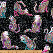 CAT-I-TUDE ~ Artist-O-Cats Black/Multi