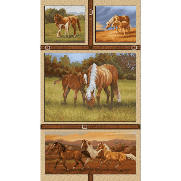"Hold Your Horses ~ Full 24"" Panel"