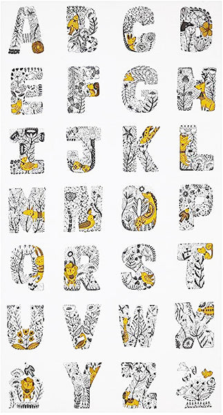 Robert Kaufman YELLOW Alphabet Letters