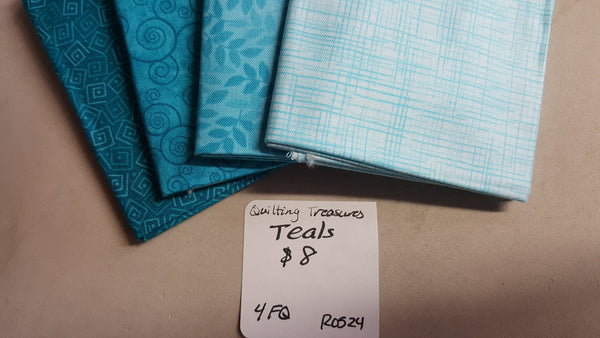 Harmony ~ Teals Fat Quarter Set