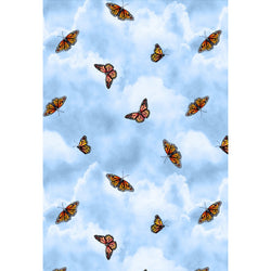 Prairie Gate Butterflies on Light Blue