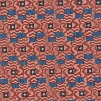 Made in the USA: Antique Wavy Flags (Half Yard)