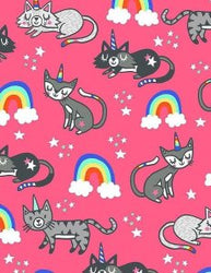 Cat-i-corns! Unicorn Cats (Half Yard)