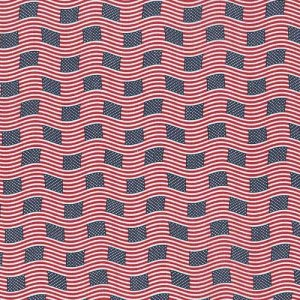 Patriotic: Wavy Flags (Half Yard)