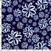 Ribbon Flowers Blue Metallic (Half Yard)