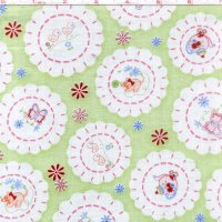 Fancywork Box Kitten Doily Green