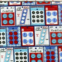 Gran's Sewing Basket Buttons Blue