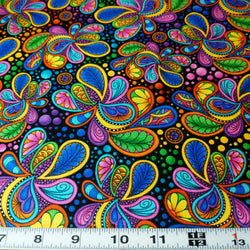 Carnivale Packed Paisleys (Half Yard)
