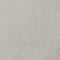 White stars on off white background