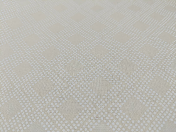 White diamonds on cream background
