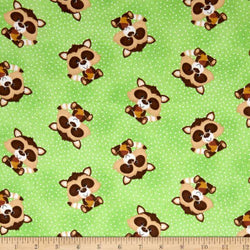 Comfy Flannel Prints ~ Racoons (Half Yard)