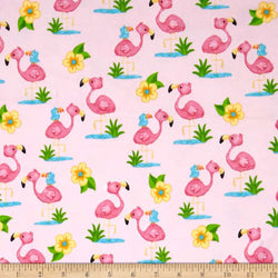 Comfy Flannel Prints ~ Flamingo (Half Yard)