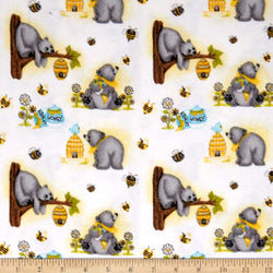 Comfy Flannel Prints ~ Bear and Honey (Half Yard)