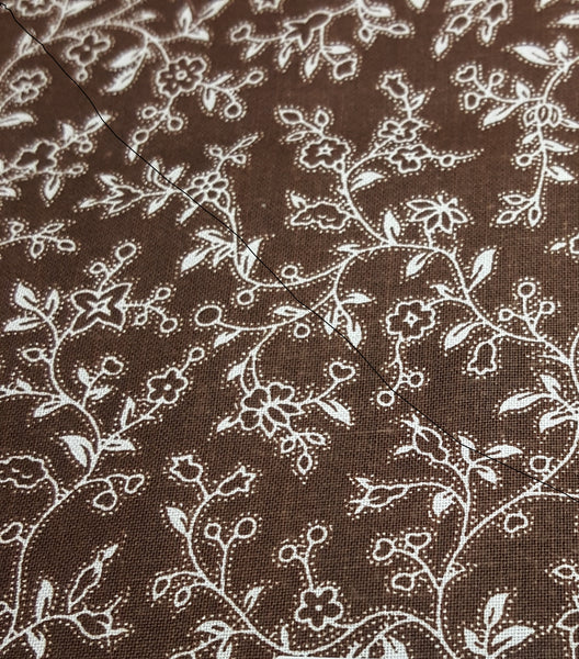 Brown with White Floral