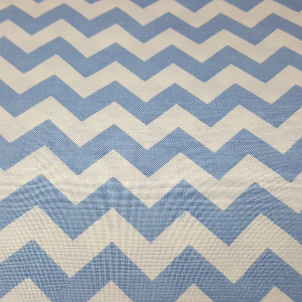 "Light Blue and White 1/2"" Chevron"