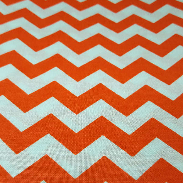 "Orange and White 1/2"" Chevron"